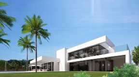 Modern luxury villa in Ibiza for sale in Santa Eulalia with great views