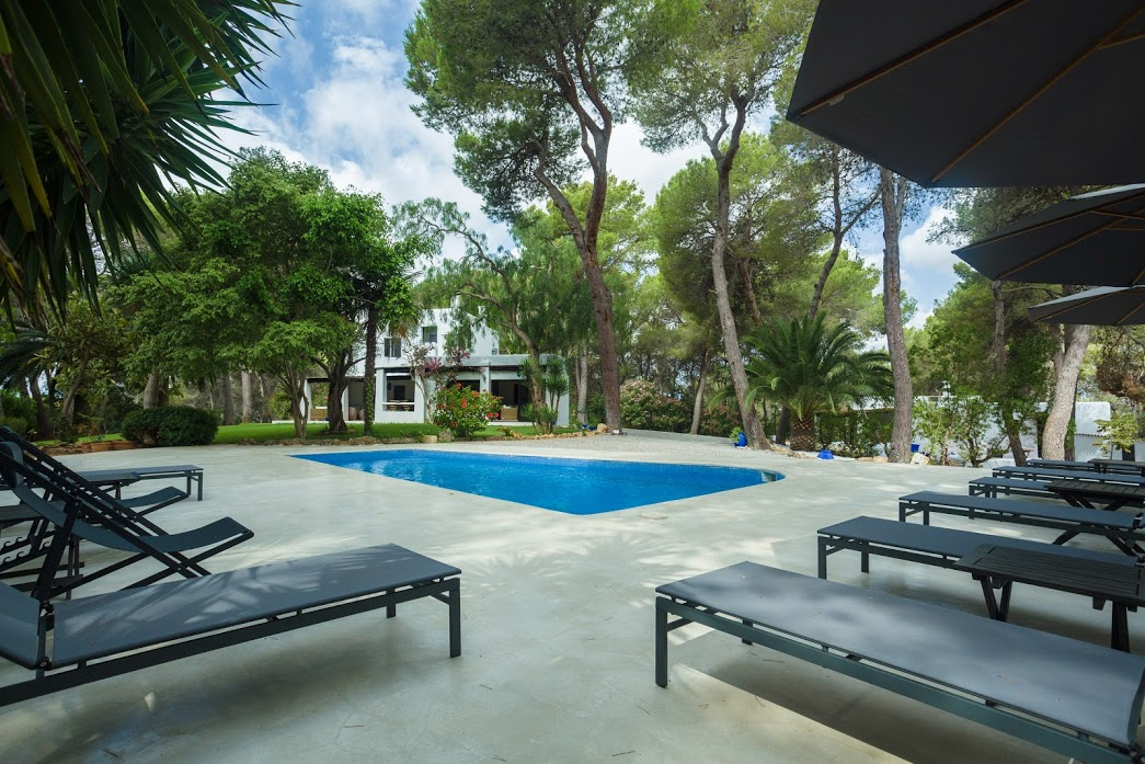 Noble country house with beautiful view of Dalt Vila and the sea in Santa Gertrudes