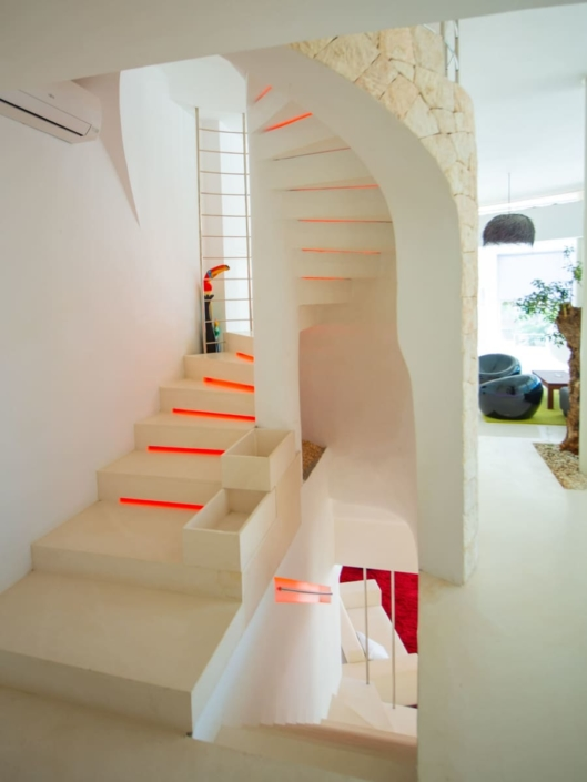 Very exquisite design villa with many indirect color modifiable lights amazing sea view and rental license
