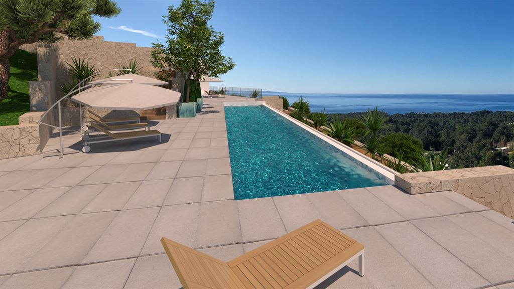 Viewable luxurious villa in Es Cubells with panoramic views of the sea