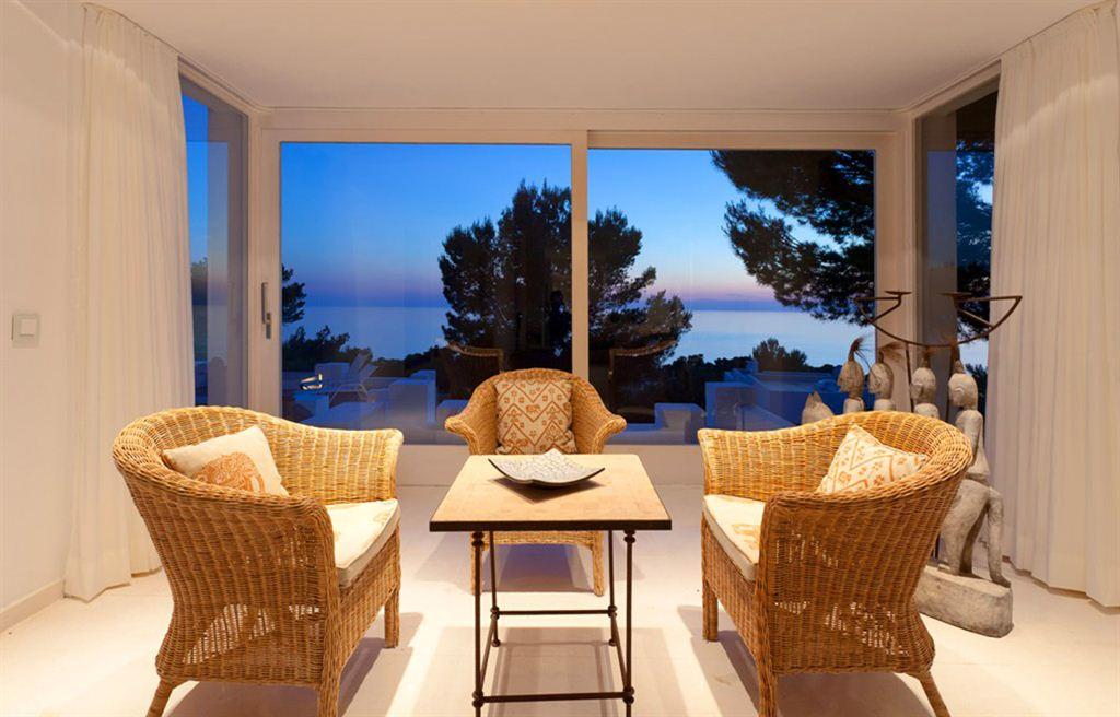 Luxury villa with sea views in Ibiza for sale - Calo d´en Real