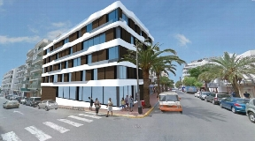 Hotel to renovate with project of a boutique hotel in the center of Santa Eulalia