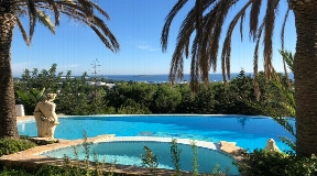 Spectacular sea facing villa in Santa Eulalia