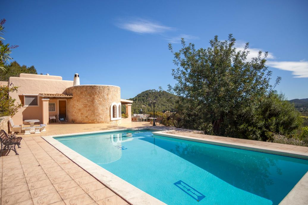 Superb Ibiza property great views over the valley near San José for sale