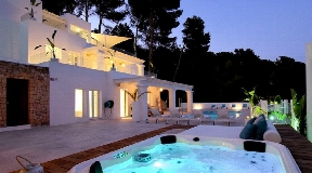 Beautiful villa in a private area in Es Cubells - Ibiza for sale