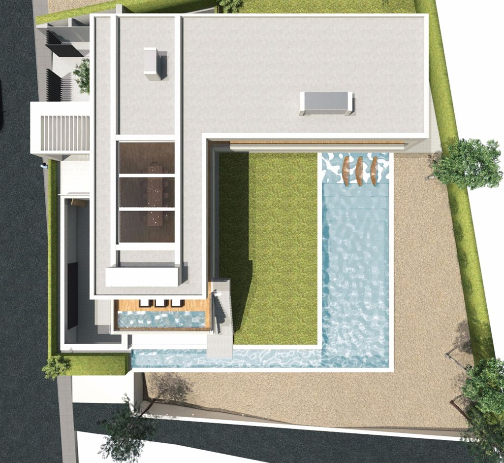 New construction minimalist villa in process in the prestigious Vista Alegre