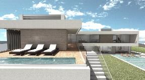 New construction minimalist villa in process in the prestigious Vista Alegre