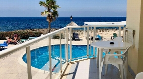 Modern first sea line apartments for sale in Cala de Bou