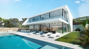 Modern new construction with private garden and pool in Jesus
