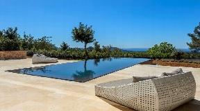 Modern villa with magnificent sea view near Es Cubells