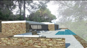 Land with license to build a villa of 186m2 with pool in Santa Gerdrutis for sale