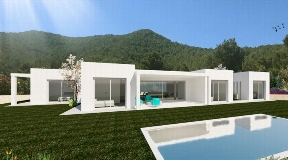 Wonderful plot with sea views and licence in Ibiza