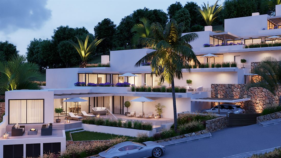 Nice villas for sale with sea views in Cala Carbo