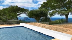 Superb private hilltop property for sale with a unique location in Ibiza
