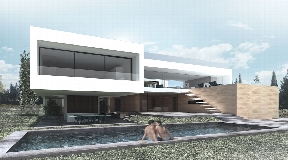 Modern villa in Cap Martinet with stunning views of the sea and Formentera