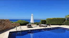 Frontline villa with incredible views to the sea on Ibiza for sale