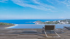 Modern villa plan for sale with an absolute top view in Portinatx
