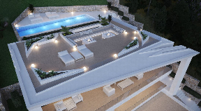 Luxurious villa with fantastic sea views in Cas Mut for sale